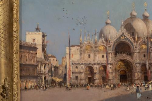 Amédée Rosier (1831 - 1898) Venice, Saint Mark's Square -