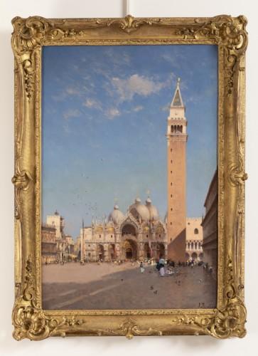 Antiquités -  Amédée Rosier (1831 - 1898) Venice, Saint Mark's Square