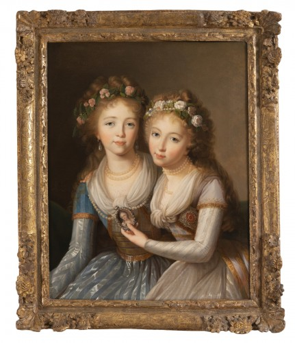 Portraits of the daughters of Paul 1st - Follower of E. L. Vigée Le Brun