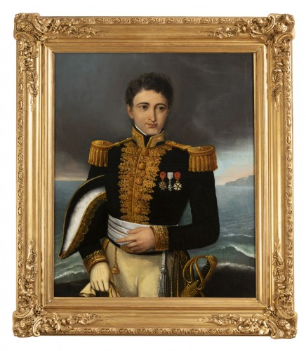 Portrait of a general officer - Restoration period Attributed to J.F Kinson