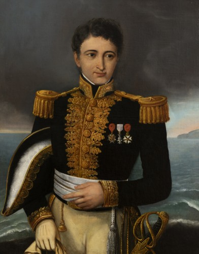 Paintings & Drawings  - Portrait of a general officer - Restoration period Attributed to J.F Kinson