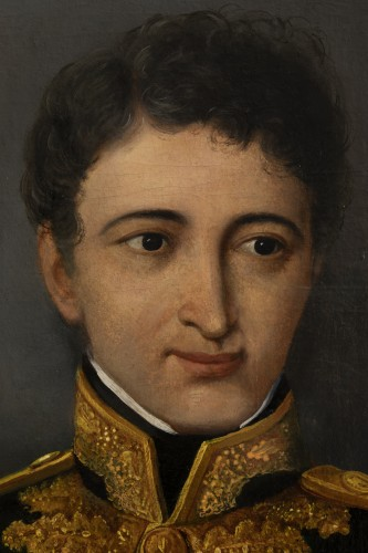 Portrait of a general officer - Restoration period Attributed to J.F Kinson -