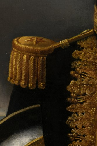 Portrait of a general officer - Restoration period Attributed to J.F Kinson - Restauration - Charles X