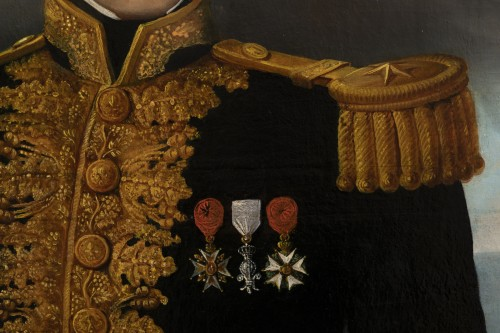 Restauration - Charles X - Portrait of a general officer - Restoration period Attributed to J.F Kinson