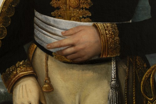 Antiquités - Portrait of a general officer - Restoration period Attributed to J.F Kinson