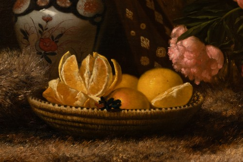 Still Life with Moukhala - E. David (1819-1900) - Paintings & Drawings Style
