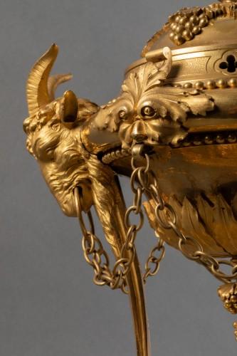 Antiquités - Athenian in gilded bronze