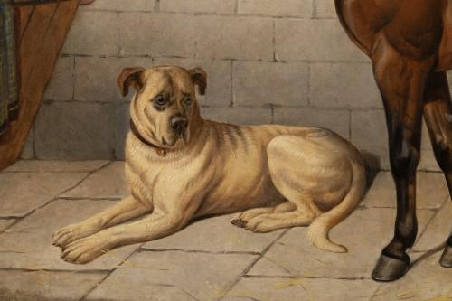 - Horse accompanied by a Mastiff. E-J Keeling (act 1856-1873)