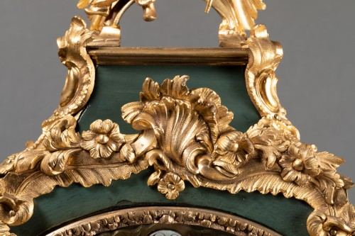 Louis XV - Chinese cartel in green lacquer, Louis XV period