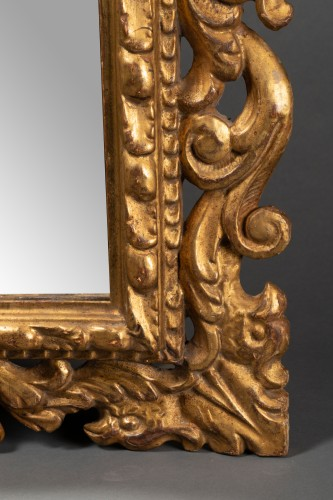 Pair of Italian mirrors in carved wood - 19th century -