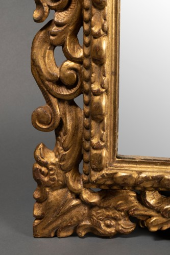 19th century - Pair of Italian mirrors in carved wood - 19th century