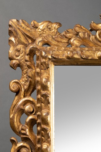 Antiquités - Pair of Italian mirrors in carved wood - 19th century