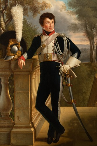 Full-length portrait of General Charles Lebrun (1775-1859) - Attributed to KINSON - Paintings & Drawings Style Empire