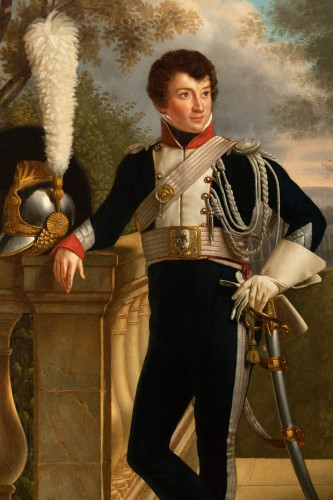 Paintings & Drawings  - Full-length portrait of General Charles Lebrun (1775-1859) - Attributed to KINSON