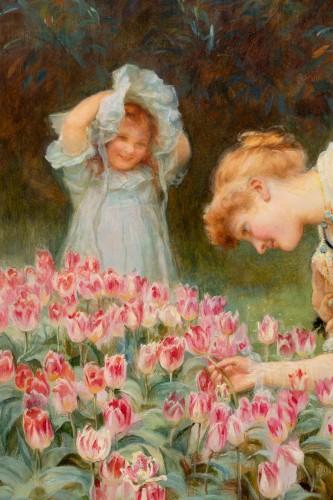 Frederick MORGAN (1847-1927) - Picking tulips -