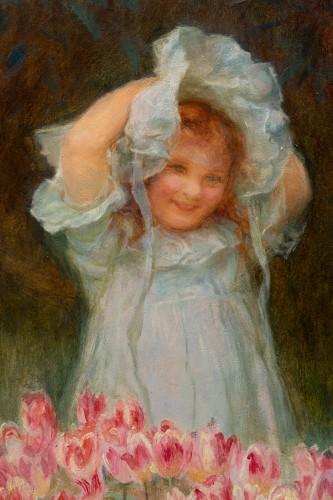 - Frederick MORGAN (1847-1927) - Picking tulips