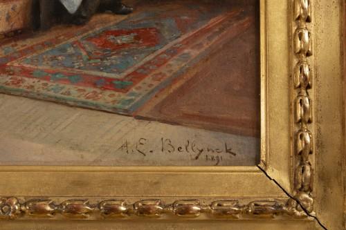 Napoléon III - Hubert-Emile BELLYNCK (1849-?) - Reading the newspaper