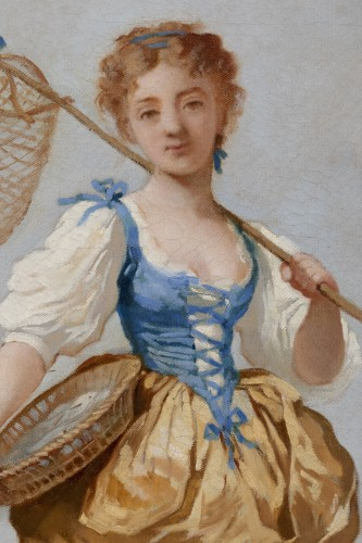 Charles CHAPLIN (1825-1891) Young girl with a net - Napoléon III