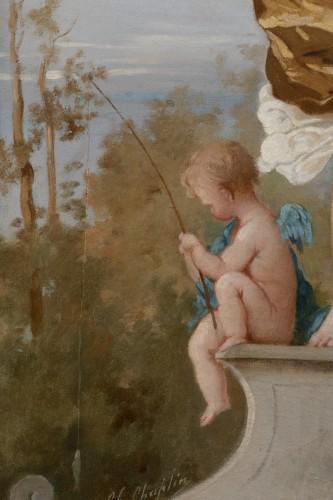 Napoléon III - Charles CHAPLIN (1825-1891) Young girl with a net
