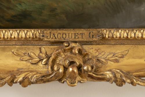 Antiquités - Gustave Jacquet (1846-1909) - Full-length portrait of a pretty peasant woman