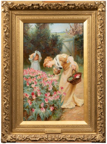 Frederick MORGAN (1847-1927) - Picking tulips