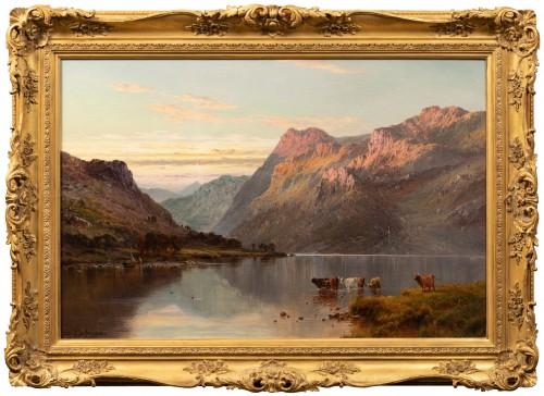 Alfred de Breanski (1821-1886) - Landscape of Scotland, Perthshire Valley.