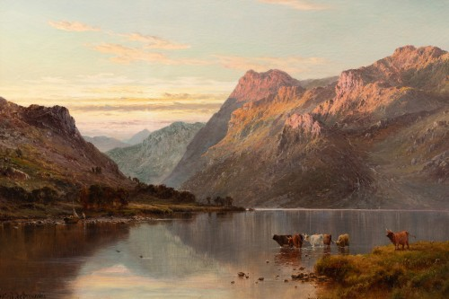 Alfred de Breanski (1821-1886) - Landscape of Scotland, Perthshire Valley. - Paintings & Drawings Style