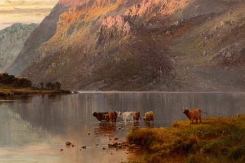 Paintings & Drawings  - Alfred de Breanski (1821-1886) - Landscape of Scotland, Perthshire Valley.
