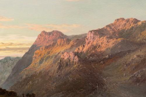 Alfred de Breanski (1821-1886) - Landscape of Scotland, Perthshire Valley. -