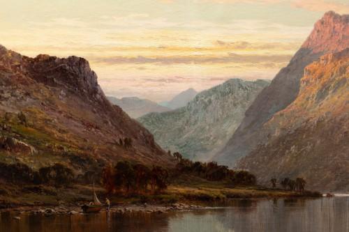 19th century - Alfred de Breanski (1821-1886) - Landscape of Scotland, Perthshire Valley.