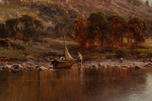 - Alfred de Breanski (1821-1886) - Landscape of Scotland, Perthshire Valley.