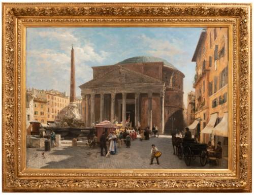 Véronica Maria HERWEGEN MANINI (1851- 1933) - Rome, The Pantheon