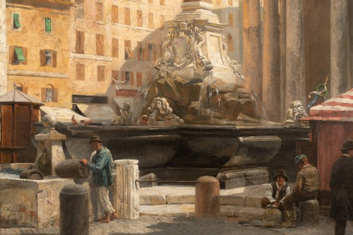 Véronica Maria HERWEGEN MANINI (1851- 1933) - Rome, Le Panthéon - Galerie William Diximus