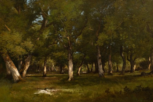 Léon Richet (1847-1907) - Undergrowth - Paintings & Drawings Style