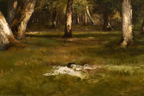 Paintings & Drawings  - Léon Richet (1847-1907) - Undergrowth