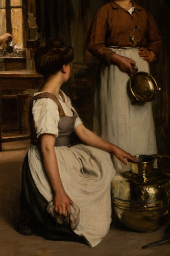 20th century - Franck Antoine BAIL  (1858-1924)  - Cleaning the vessels