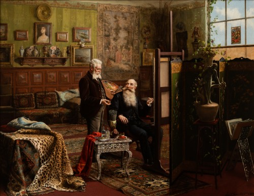 Carl Johann Spielter - The Painter in His Studio - Paintings & Drawings Style