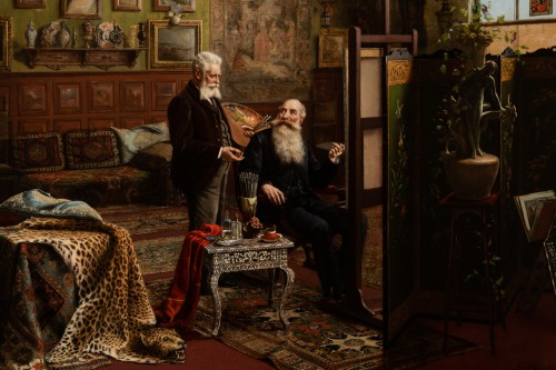 Paintings & Drawings  - Carl Johann Spielter - The Painter in His Studio