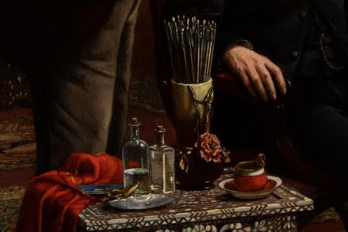 - Carl Johann Spielter - The Painter in His Studio