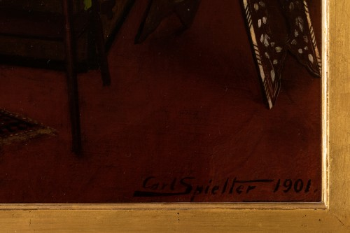 Antiquités - Carl Johann Spielter - The Painter in His Studio