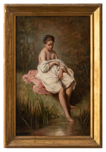 Charles CHAPLIN (1825-1891) the young girl in the bath