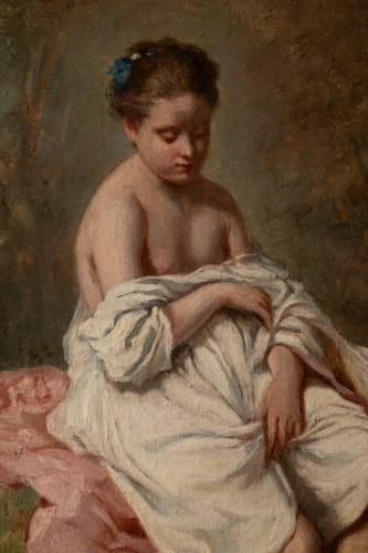 Charles CHAPLIN (1825-1891) the young girl in the bath -