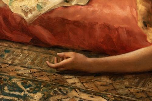 "Joseph Mousset (1850-1894) - Reclining young woman ""Lassata"" - Napoléon III"