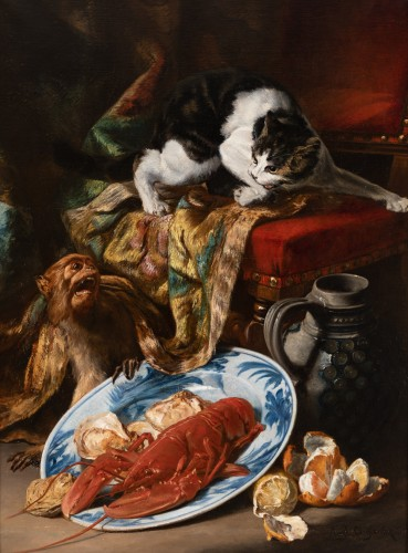 Auguste Aristide F. CONSTANTIN (1824-1895) - Still Life - Paintings & Drawings Style Napoléon III