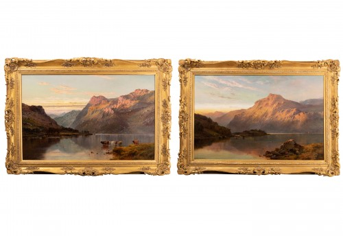 Pair of Scottish Landscape - Alfred de Breanski (1821-1886)