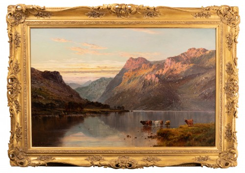 Pair of Scottish Landscape - Alfred de Breanski (1821-1886) - Paintings & Drawings Style Napoléon III