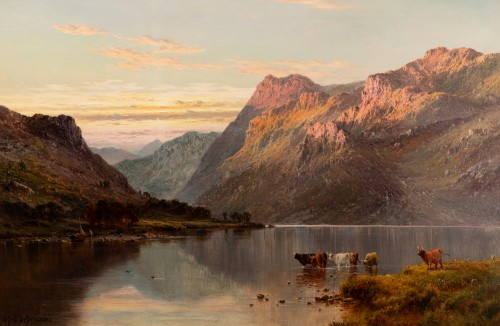 Pair of Scottish Landscape - Alfred de Breanski (1821-1886) -