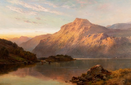 19th century - Pair of Scottish Landscape - Alfred de Breanski (1821-1886)