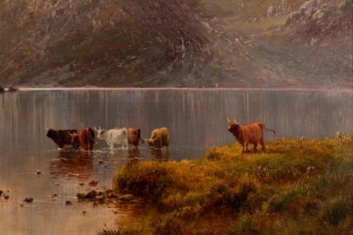 Pair of Scottish Landscape - Alfred de Breanski (1821-1886) - Napoléon III