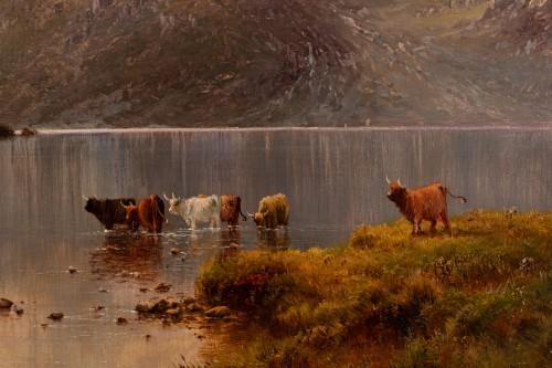 Napoléon III - Pair of Scottish Landscape - Alfred de Breanski (1821-1886)